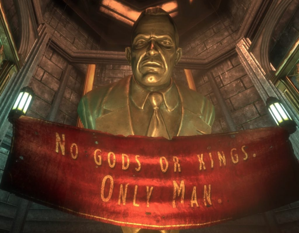 Bioshock HD edition: Andrew Ryan propaganda statue