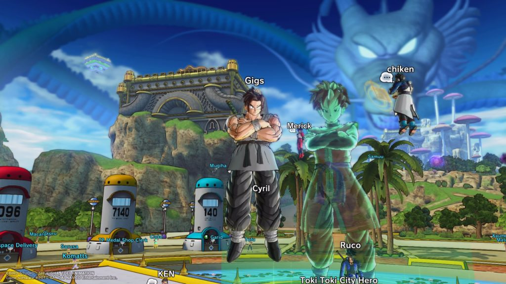 Hub area of Dragonball Xenoverse 2