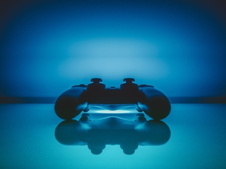 Glowing playstation controller
