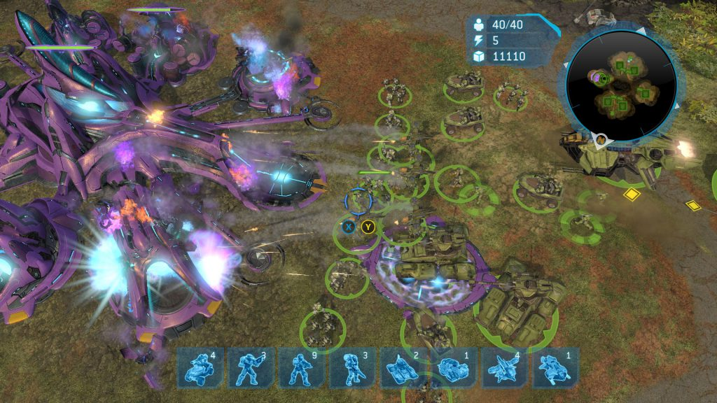 Destroying a base in halo wars