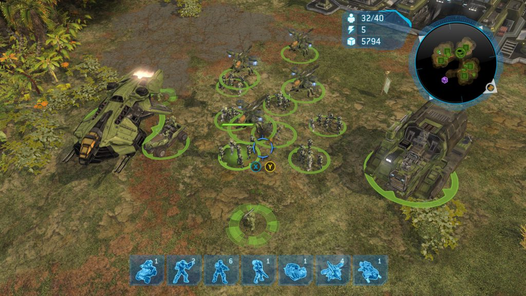 UNSC army in Halo Wars