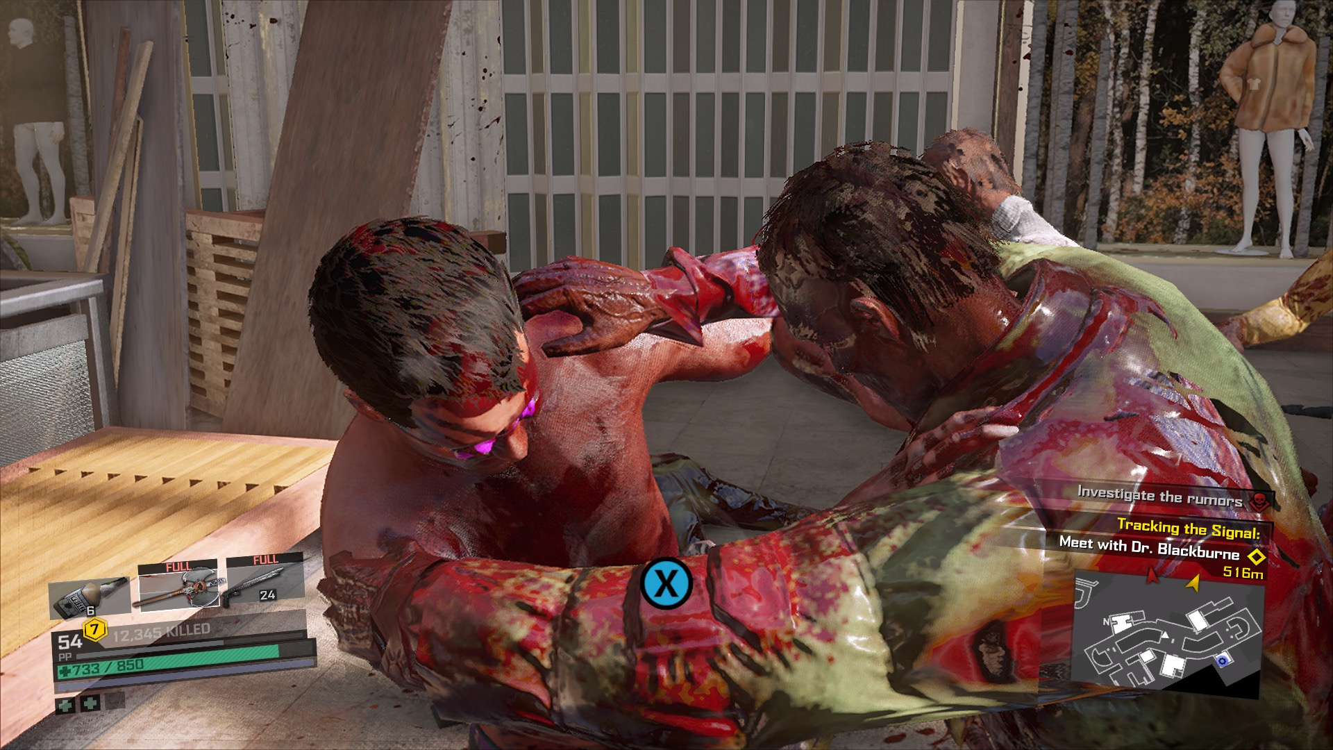 being attacked by a zombie in Dead Rising 4