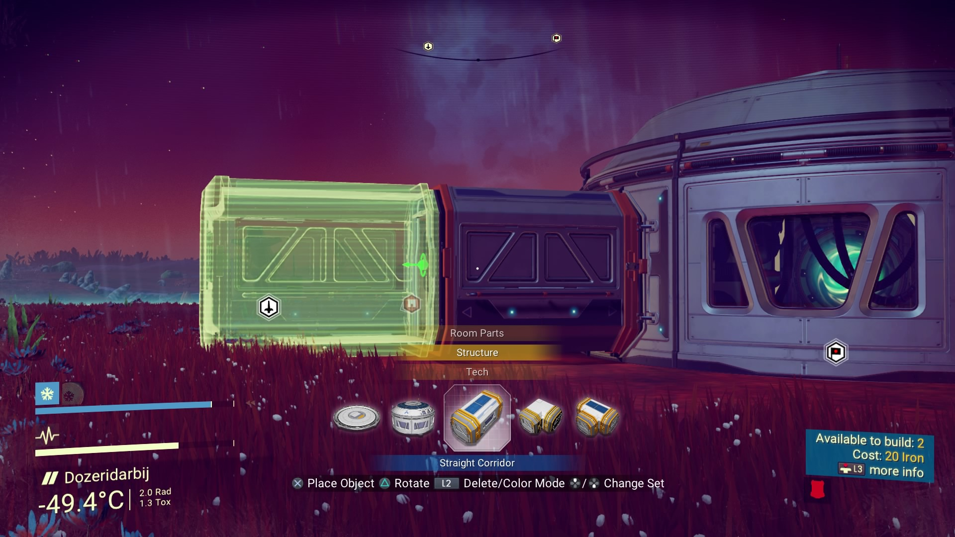 Building a base in No Man's Sky