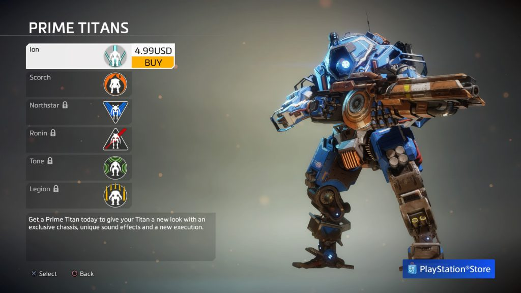 Titanfall 2 microtransactions screen