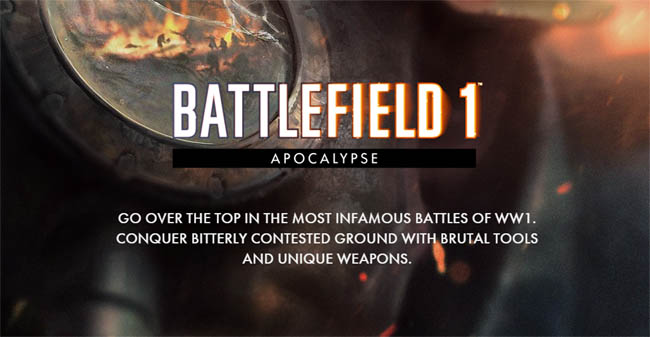 apocalypse, apocalypse battlefield, apocalypse update, DLC, battlefield, battlefield 1, gaming, new games, video game news, gaming news, gigamax, gigamax games