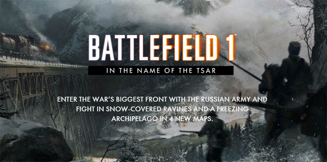 in the name of tsar, tsar battlefield,, battlefield, battlefield 1, gaming, new games, video game news, gaming news, gigamax games
