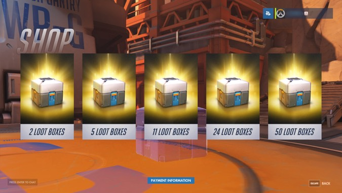loot box, loot boxes, microtransaction, battlefront 2, battlefront II, shadow of war, Overwatch, breaking news, gaming news, video game news, gigamax, gigamax games