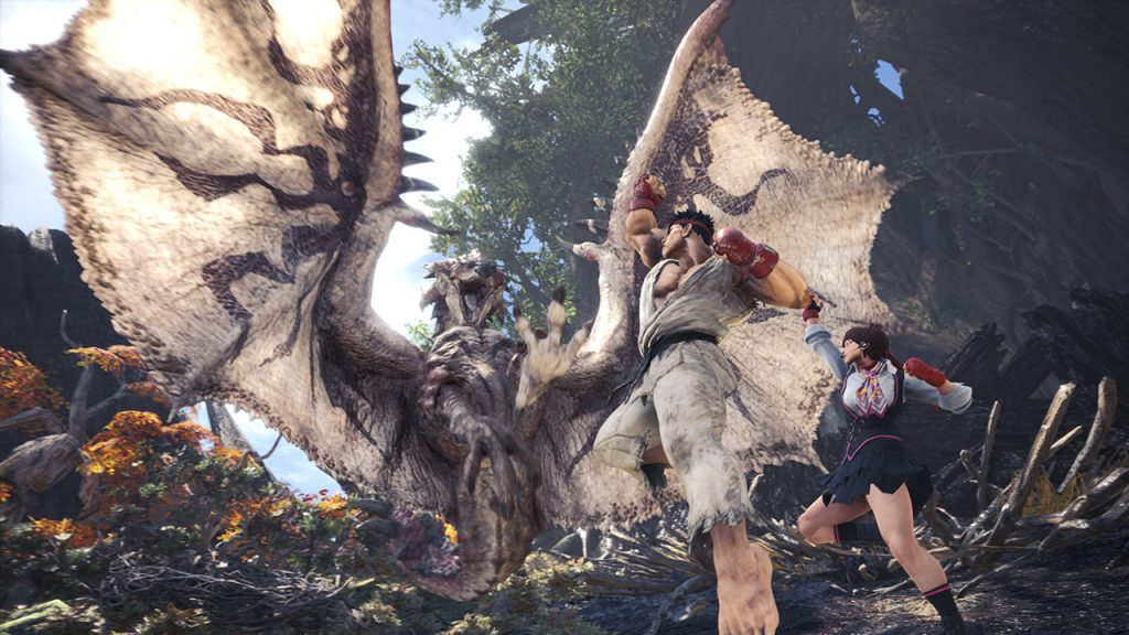 Monter Hunter: World, capcom, street fighter v, gaming updates, video game media, gigamax games, video game news