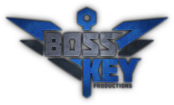 boss key productions logo, boss key radical heights