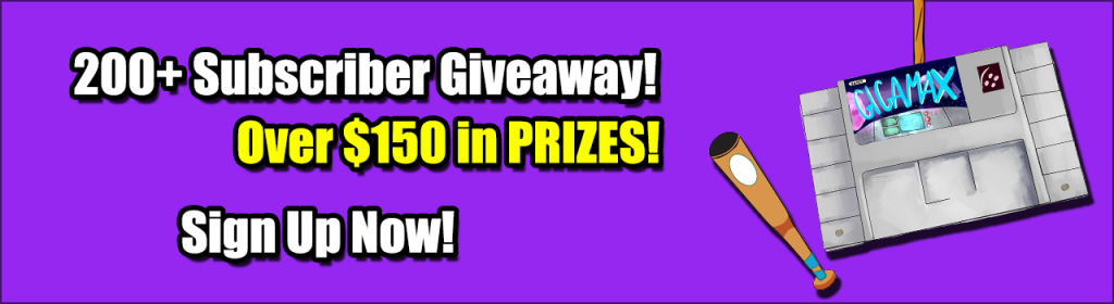 youtube giveaway, gigamax games giveaway, gigamax giveaway
