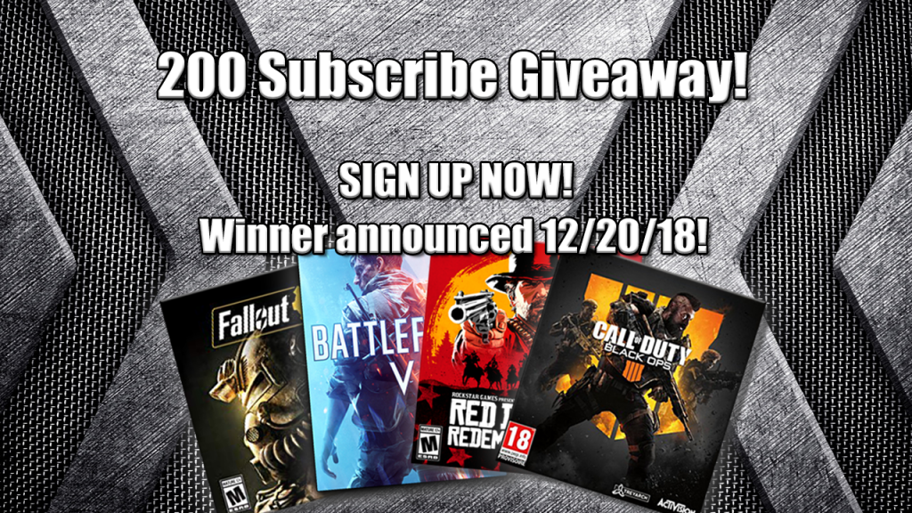 youtube giveaway, subscriber giveaway, streamer giveaway, new video games, new games, gigamax games, gigamax