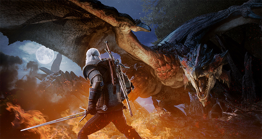 Geralt Makes His Way To Monster Hunter World